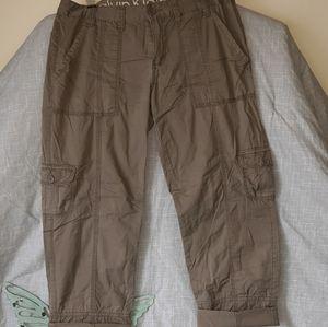 Women's size 10 Calvin Klein khaki cargo pants